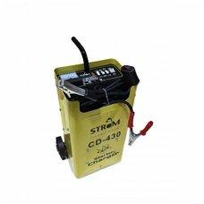 Automobilių akumuliatorių pakrovėjas / paleidėjas STROM CD-430