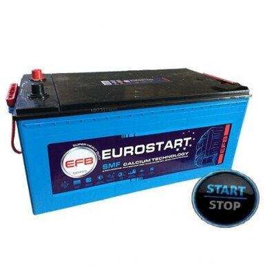 AKUMULIATORIUS EUROSTART EFB ( START-STOP ) 240AH 1250A