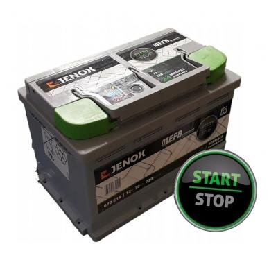 Akumuliatorius JENOX EFB ( START-STOP ) 70AH 720A