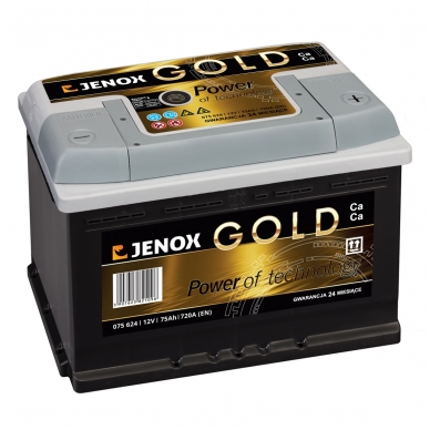 Akumuliatorius JENOX GOLD 75AH 720A